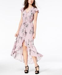 American Rag Juniors' High Low Maxi Dress Created For Macy's Pale Elderberry Combo