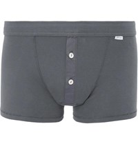 Schiesser Karl Heinz Cotton Jersey Boxer Briefs Gray