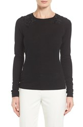 Tahari Women's Elie Grace Embellished Merino Wool Sweater