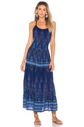 Cleobella Uruapan Short Dress Blue