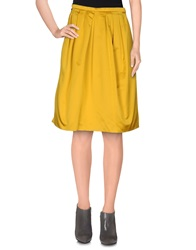 Dice Kayek Knee Length Skirts Yellow