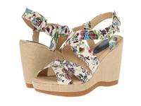 Hush Puppies Gillian Lucca Floral Textile Women's Wedge Shoes Black