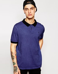 Religion Oil Wash Polo Shirt Midnightnavy