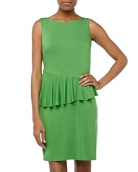 Laundry By Shelli Segal Asymmetric Peplum Jersey Dress Mod Green