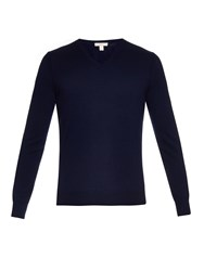 Burberry Dockley V Neck Wool Sweater