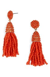 Baublebar Women's Tratar Drop Earrings Bright Orange