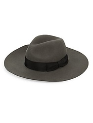 Gottex Laurent Wool Wide Brim Hat Grey