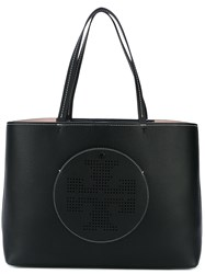 Tory Burch Logo Tote Women Leather One Size Black