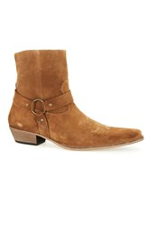 Topman Brown Tan Suede Harness Boots
