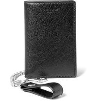 Saint Laurent Rider Full Grain Leather Chain Wallet Black