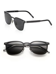 Montblanc Soft Round 51Mm Sunglasses Matte Black