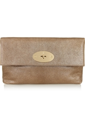 Mulberry Clemmie Metallic Leather Clutch