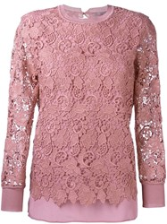 Ermanno Scervino Laced Top Pink And Purple