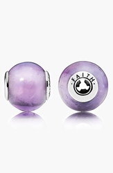 Pandora Design 'Essence Faith' Bead Charm Sterling Silver Amethyst
