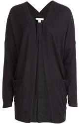 Ella Moss Ramsey Cardigan With Silk Contrast Back