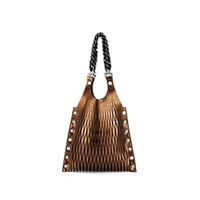 Sonia Rykiel Le Baltard Medium Leather Tote Bag Gold