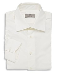 Canali Modern Fit Cotton Dress Shirt White