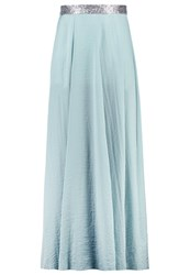 Anna Field Maxi Skirt Silver Blue Blue Grey