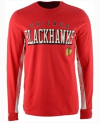 G3 Sports Men's Chicago Blackhawks Hands High Front Four Long Sleeve T Shirt Red White
