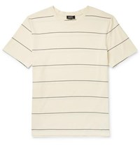 A.P.C. Yukata Striped Cotton Jersey T Shirt Ecru