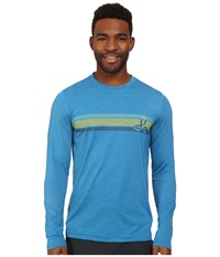 Prana Calder L S Danube Blue Men's Long Sleeve Pullover