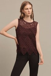 Anthropologie Lacework Shell Plum