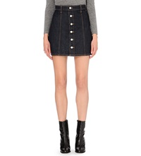 Alexa Chung For Ag Kety Button Up Denim Skirt Lonestar