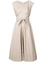 Aspesi Flared Midi Dress Neutrals