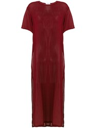 Lost And Found Rooms Long Sheer T Shirt Red