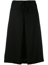 Jil Sander Pleated Skirt Women Cotton 36 Black