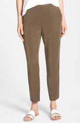 Eileen Fisher Tapered Lightweight Twill Ankle Pants Surplus