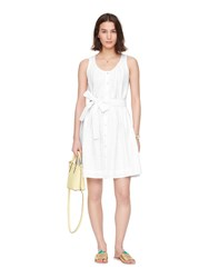 Kate Spade Dot Eyelet Tie Front Dress