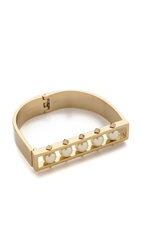 Rebecca Minkoff Stud Bangle Bracelet Gold Pearl