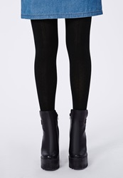 Missguided Cable Knit Net Tights Black