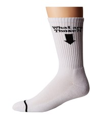 Huf What Are Those Crew Sock White Men's Crew Cut Socks Shoes