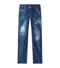 Dsquared2 Distressed Sexy Twist Jeans Male Blue