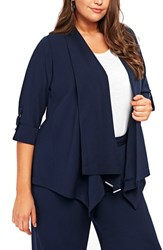 Evans Plus Size Navy Waterfall Jacket