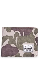 Herschel Supply Co. Hank Wallet Green Frog Camo Tan Synth Leather
