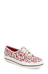 Women's Keds For Kate Spade New York Floral Print Sneaker Pink Rose Garden Canvas