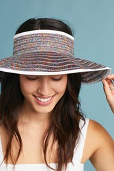 Anthropologie Metallic Visor Neutral Motif