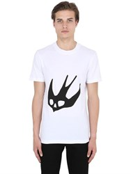 Mcq By Alexander Mcqueen Skull Swallow Printed Jersey T Shirt