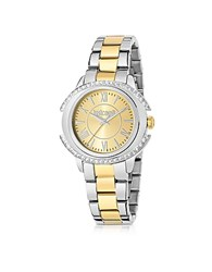 Just Cavalli Decor Two Tone Stainless Steel Women's Watch Gold