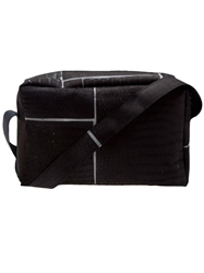 Luisa Cevese Riedizioni Leather Patch Travel Bag Black