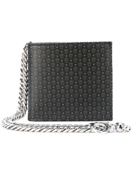 Alexander Mcqueen Skull Print Wallet Men Leather Metal One Size Black