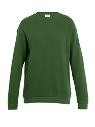 American Vintage Cotton Fleece Jersey Sweatshirt Green