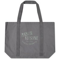 Maison Kitsune Palais Royal Shopping Bag Grey
