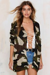 Nasty Gal On A Warpath Camo Cardigan
