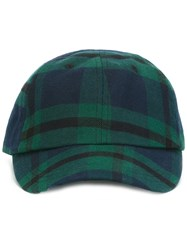 Edwin Plaid Print Cap Green