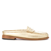 Bass Weejuns Women's Penny Slide Leather Loafers Gold Textured