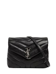 Saint Laurent Toy Loulou Monogram Quilted Leather Bag Black
